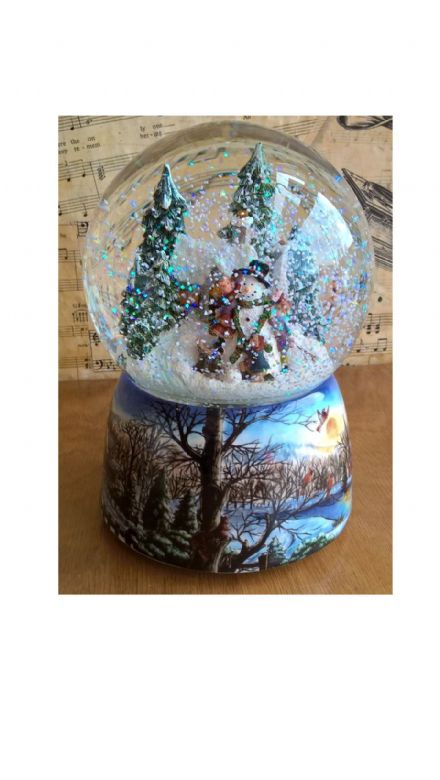 Musical Building A Snowman Waterglobe 55120